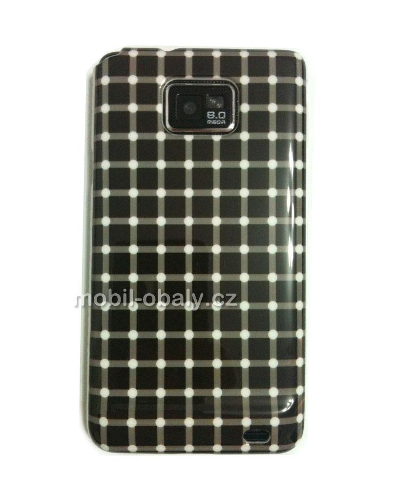 Obal Faceplate Samsung Galaxy i9100 S2 pevný plast mřížka černý a bílý