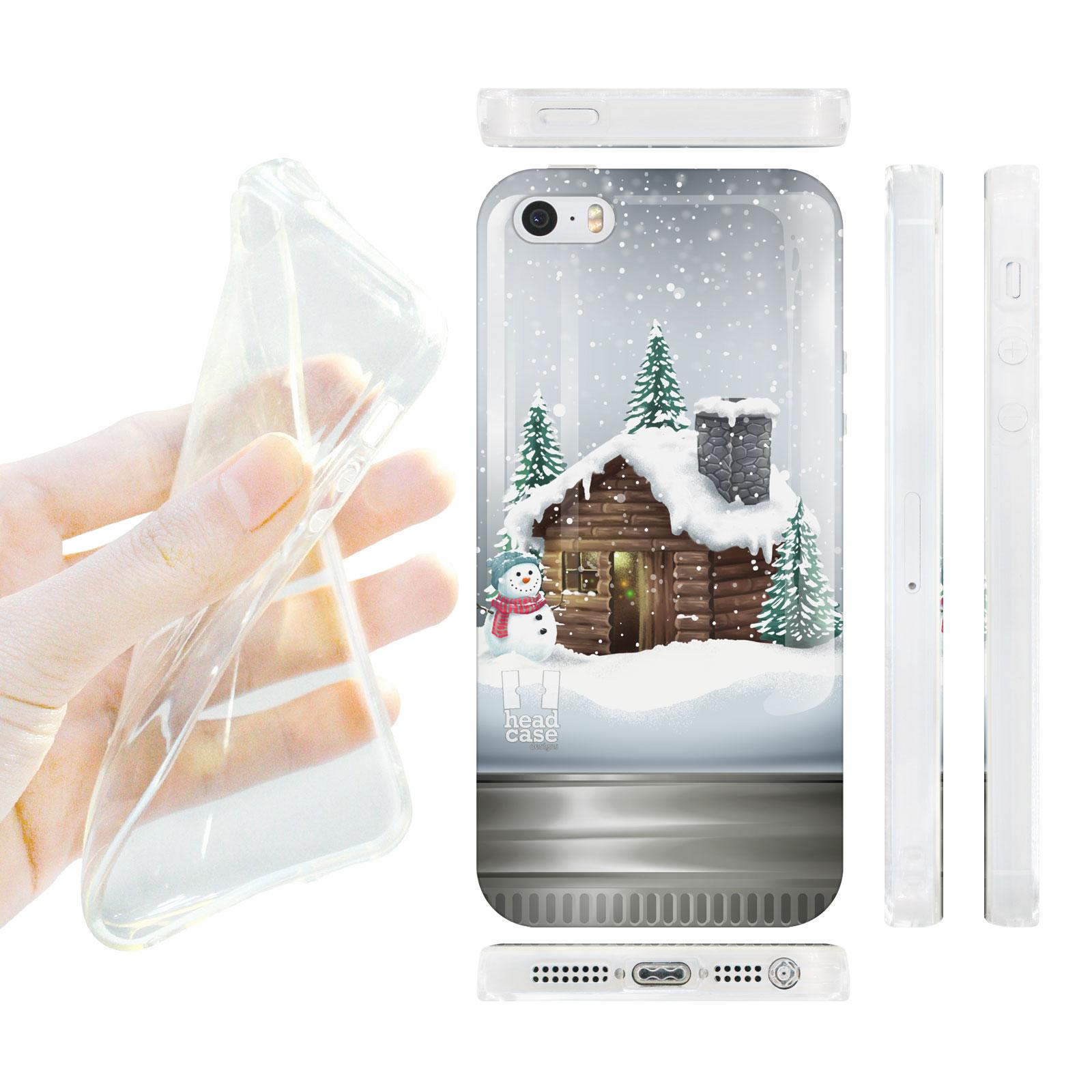 HEAD CASE silikonový obal na mobil Iphone 5/5S vánoční domeček skleněná koule