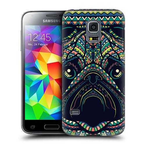 HEAD CASE obal na mobil Samsung galaxy S5 MINI G800 aztécký motiv zvíře mopsík