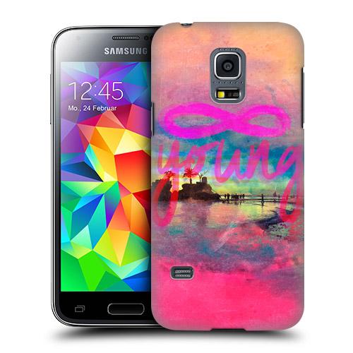 HEAD CASE obal na mobil Samsung galaxy S5 MINI G800 Pláž Vintage YOUNG růžová