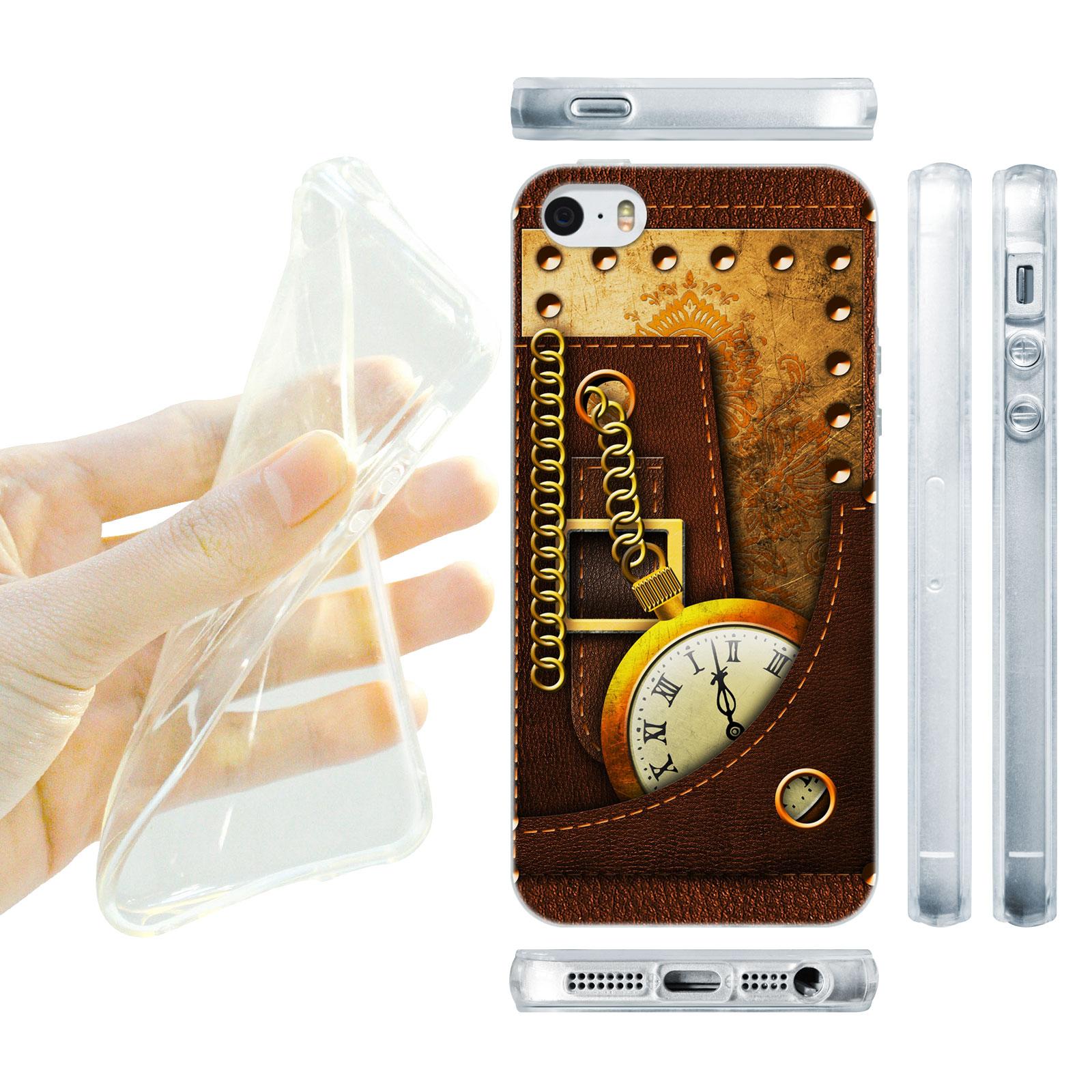 HEAD CASE silikonový obal na mobil Iphone 5/5S Vzor starodávné kapesní hodinky