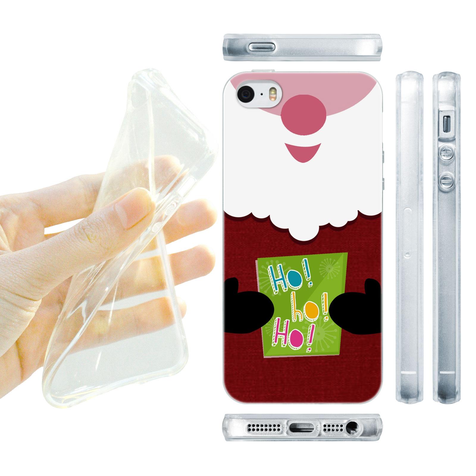 HEAD CASE silikonový obal na mobil Iphone 5/5S Vzor vánoce Santa HO HO HO
