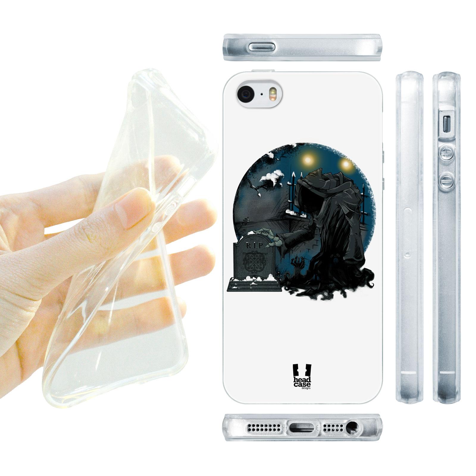 HEAD CASE silikonový obal na mobil Iphone 5/5S Vzor duch vánoc černá a bílá