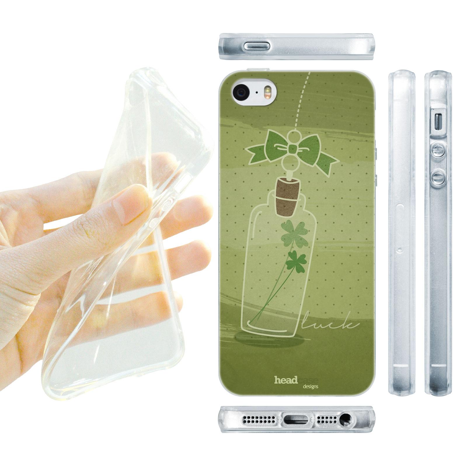 HEAD CASE silikonový obal na mobil Iphone 5/5S zelená sklenice štěstí