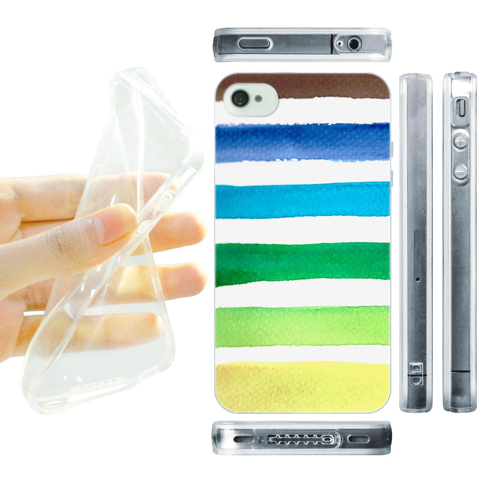 HEAD CASE silikonový obal na mobil Iphone 4/4S Vzor barevné pruhy námořník