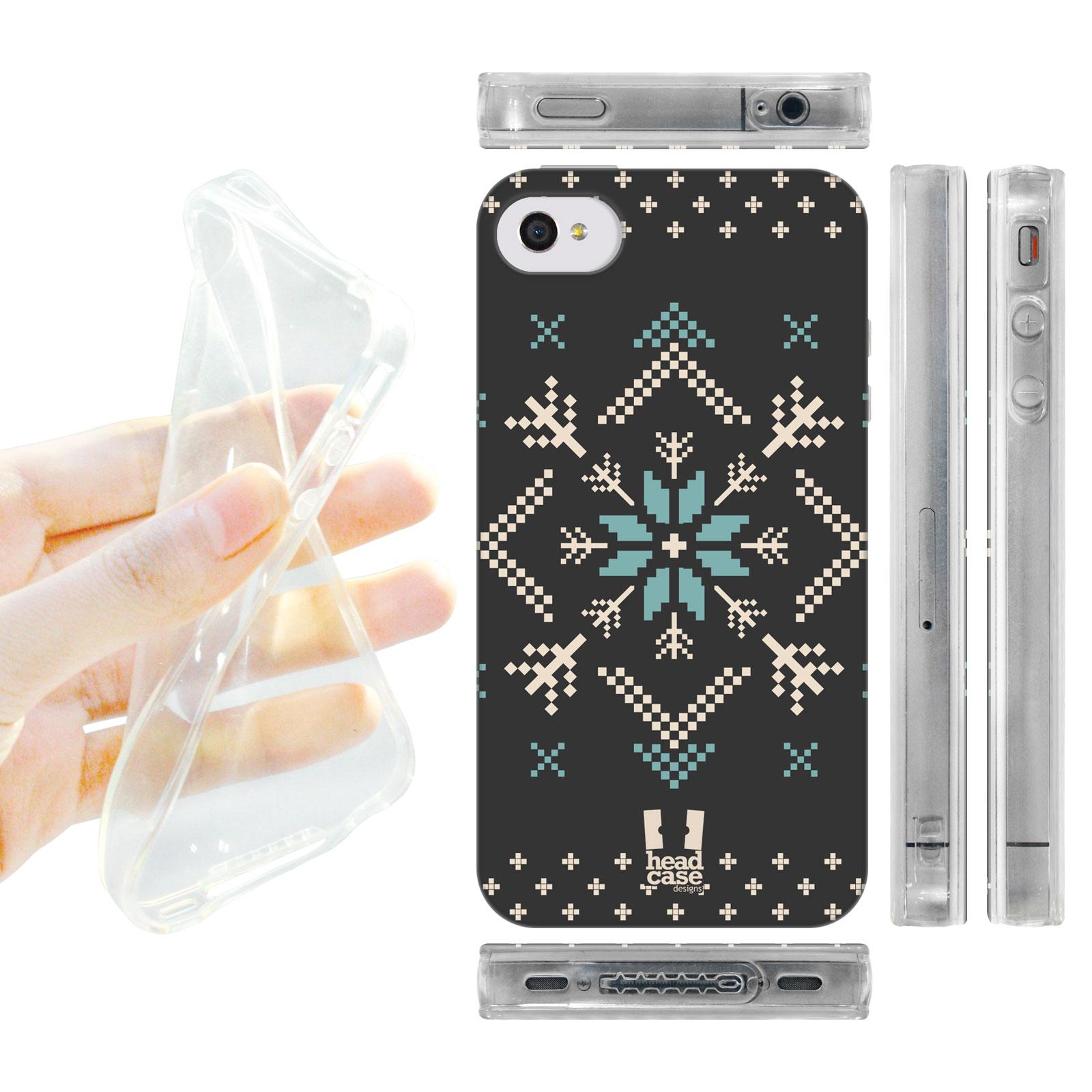 HEAD CASE silikonový obal na mobil Iphone 4/4S Vzor zima bílá vločka