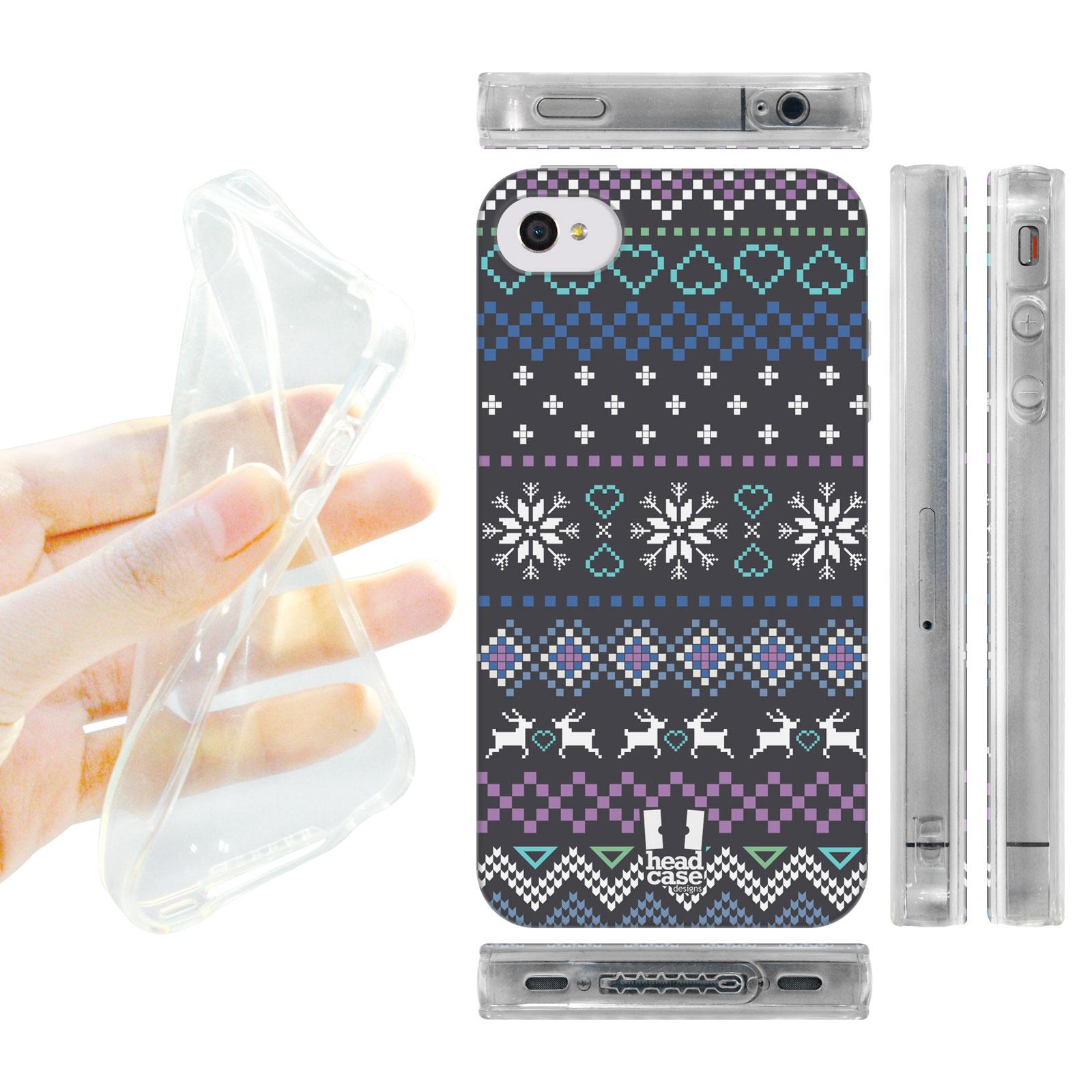 HEAD CASE silikonový obal na mobil Iphone 4/4S Vzor zima barevný značky