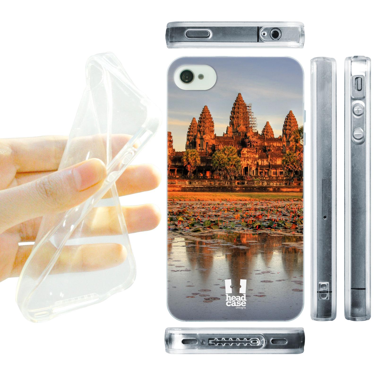 HEAD CASE silikonový obal na mobil Iphone 4/4S foto chrám kambodža