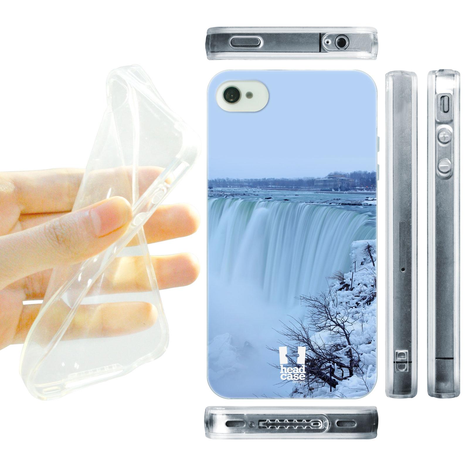 HEAD CASE silikonový obal na mobil Iphone 4/4S foto Niagarské vodopády zima