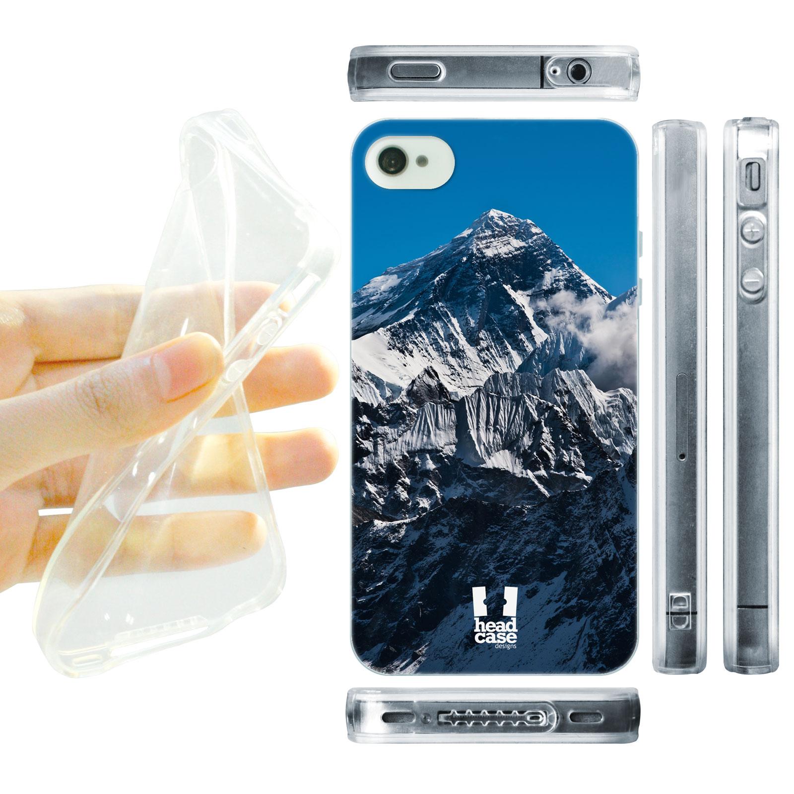 HEAD CASE silikonový obal na mobil Iphone 4/4S foto vrchol Mount Everest Himálaje