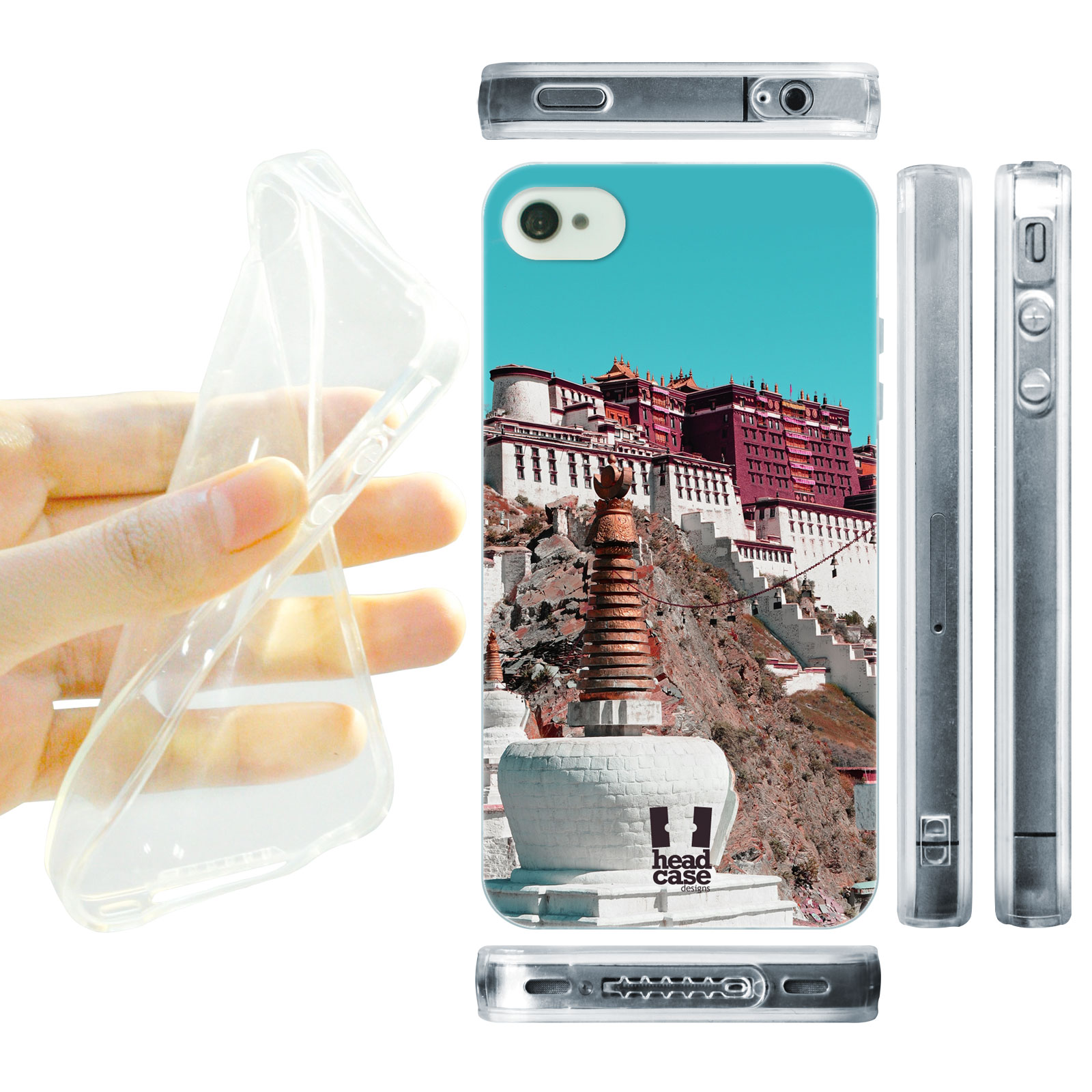 HEAD CASE silikonový obal na mobil Iphone 4/4S foto chrám Tibet
