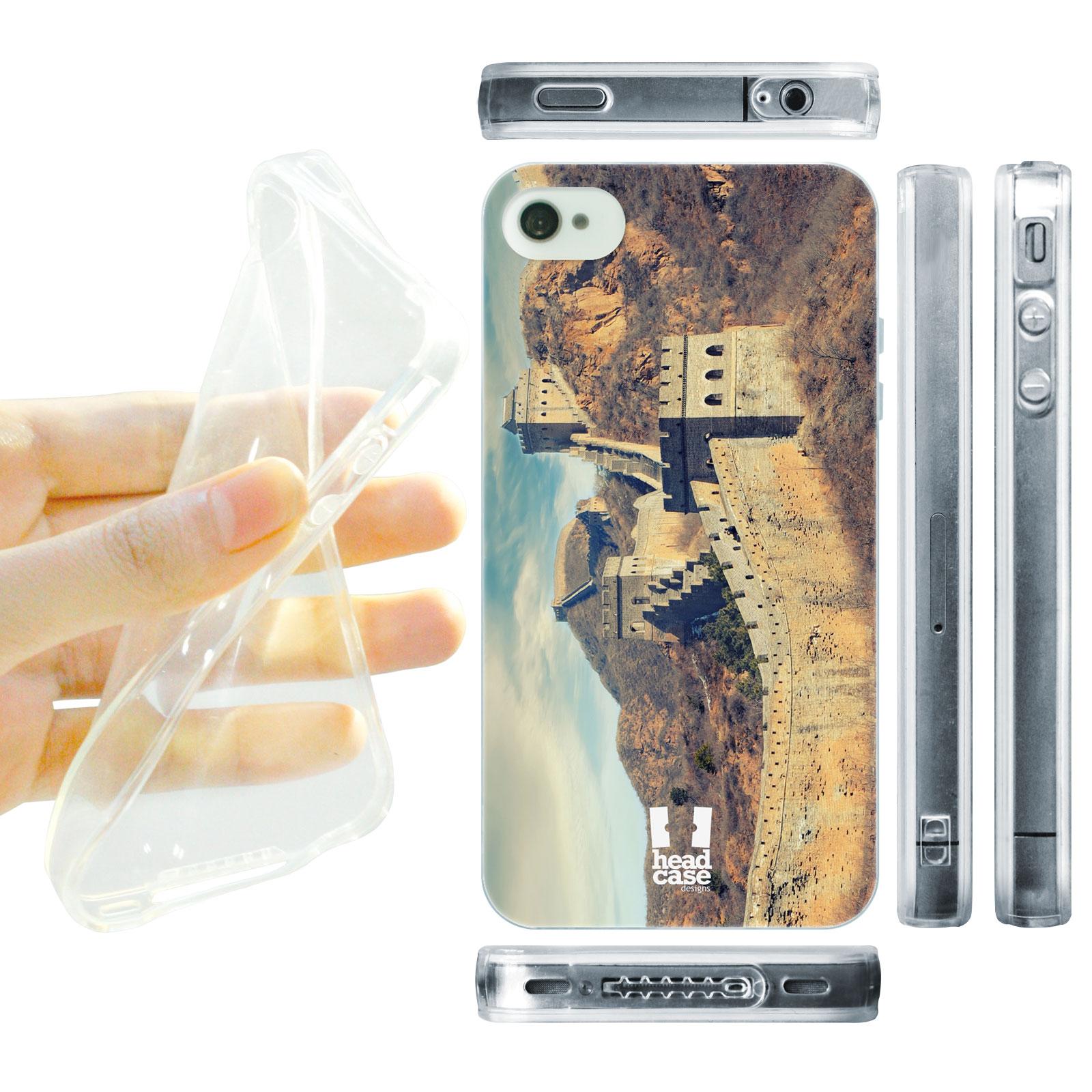HEAD CASE silikonový obal na mobil Iphone 4/4S foto velká Čínská zeď