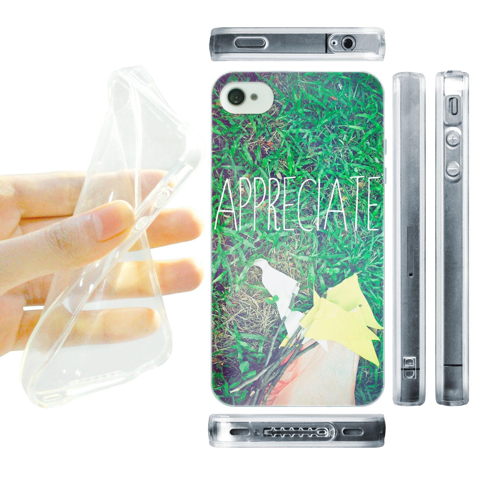 HEAD CASE silikonový obal na mobil Iphone 4/4S Zelená tráva Appreciate