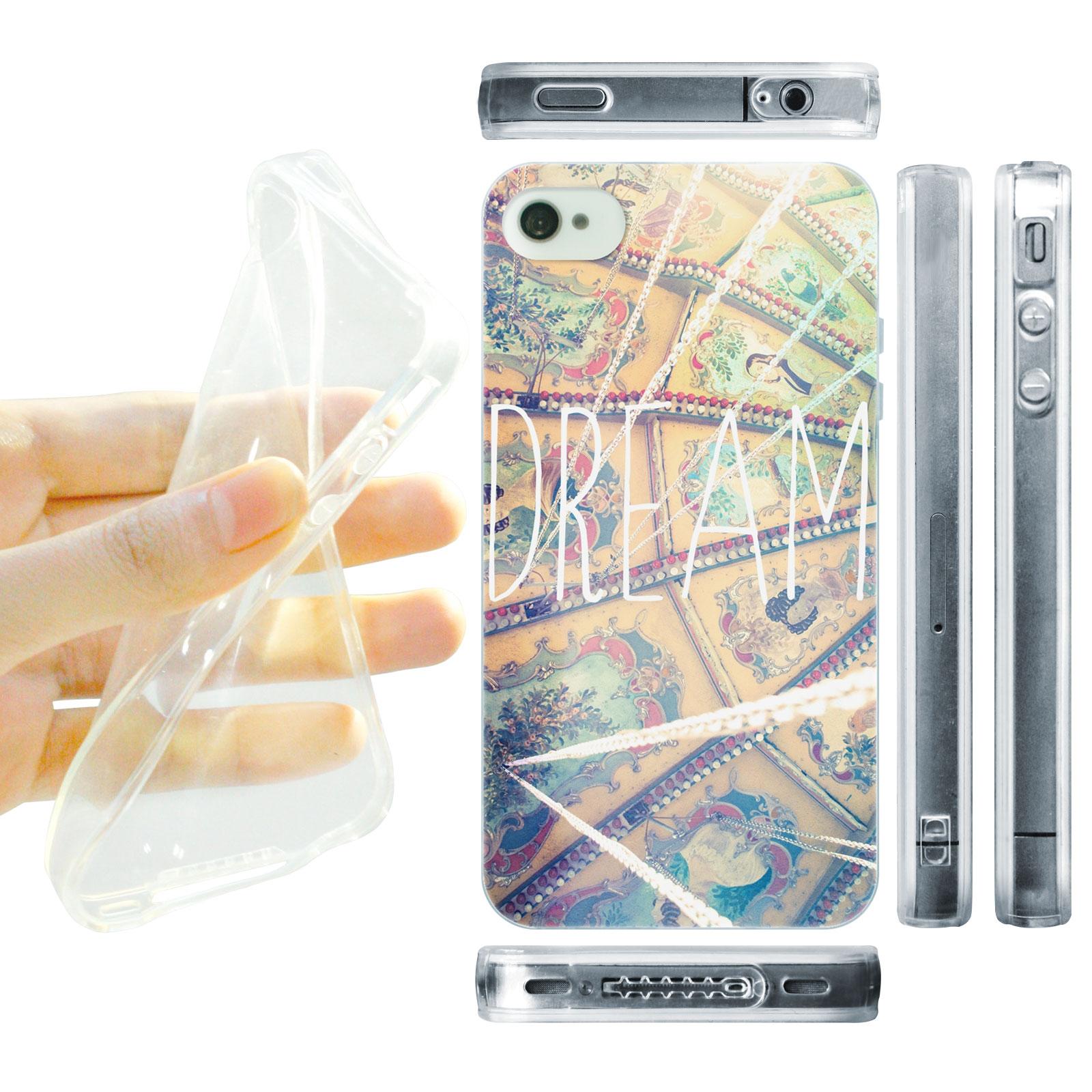 HEAD CASE silikonový obal na mobil Iphone 4/4S snění dream pozitivní myšlenky