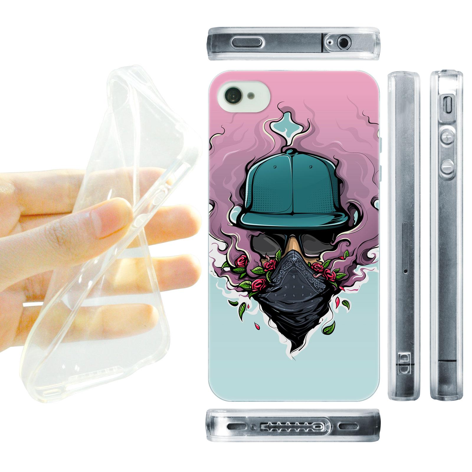 HEAD CASE silikonový obal na mobil Iphone 4/4S Urban styl láska z kouře fialová a modrá
