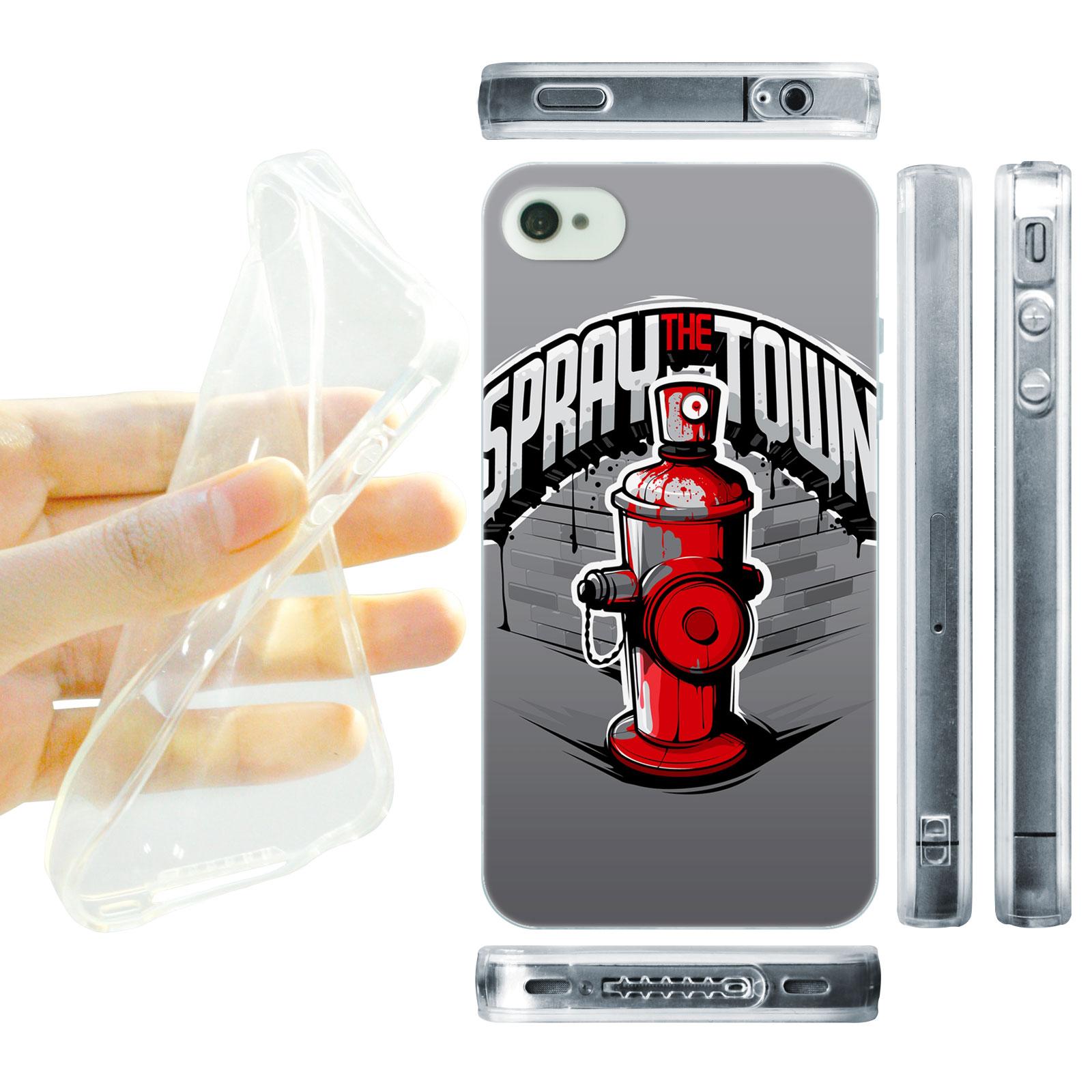 HEAD CASE silikonový obal na mobil Iphone 4/4S Urban styl požární hydrant sprej style
