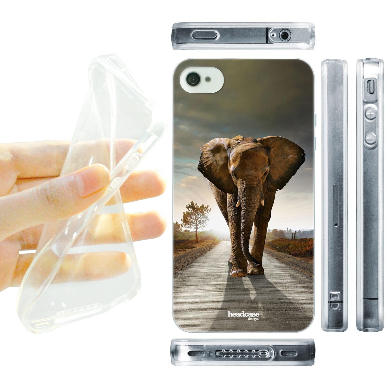 HEAD CASE silikonový obal na mobil Iphone 4 4S divočina Afrika chodící slon  foto e9cb82dae51