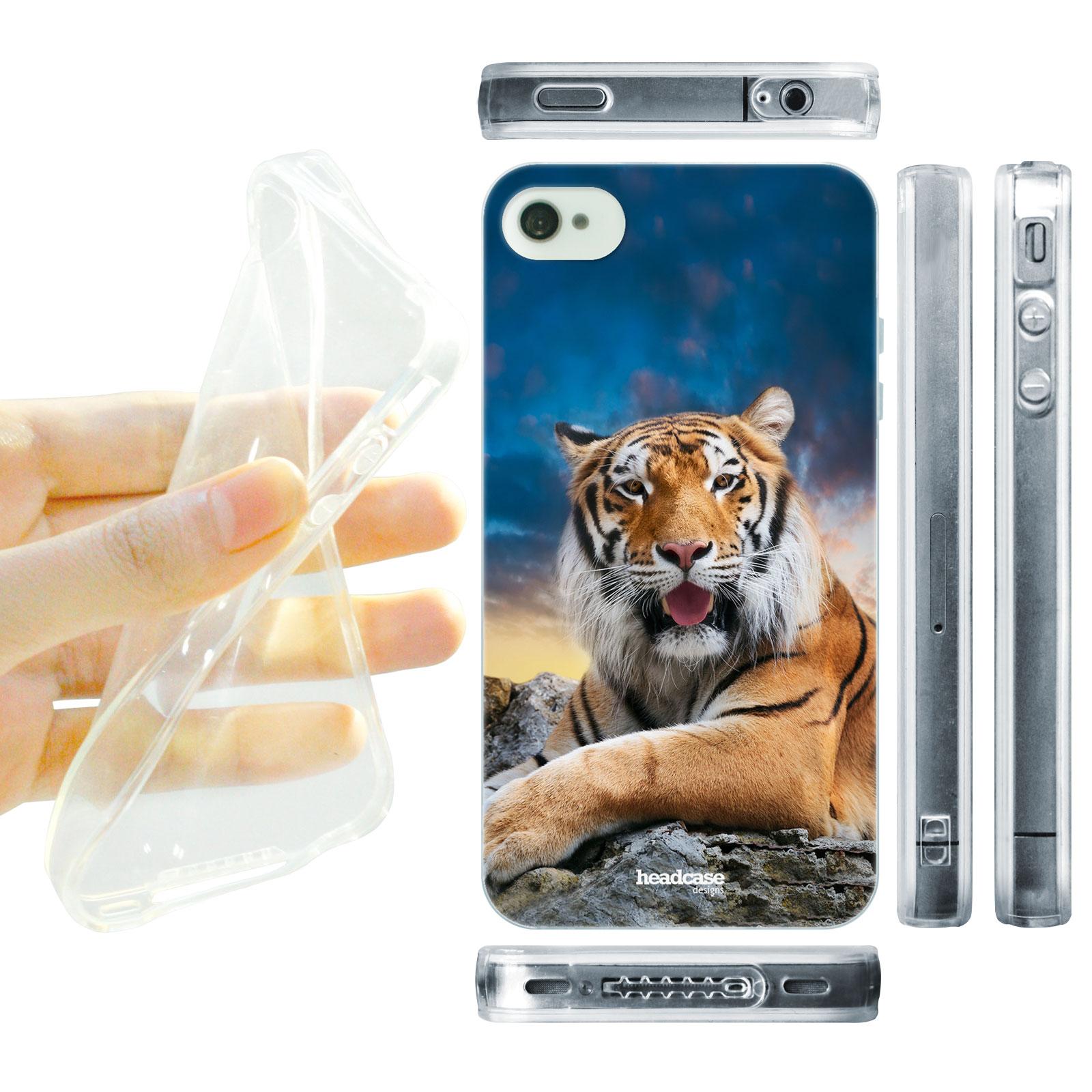 HEAD CASE silikonový obal na mobil Iphone 4/4S divočina tygr bengálský portrét foto
