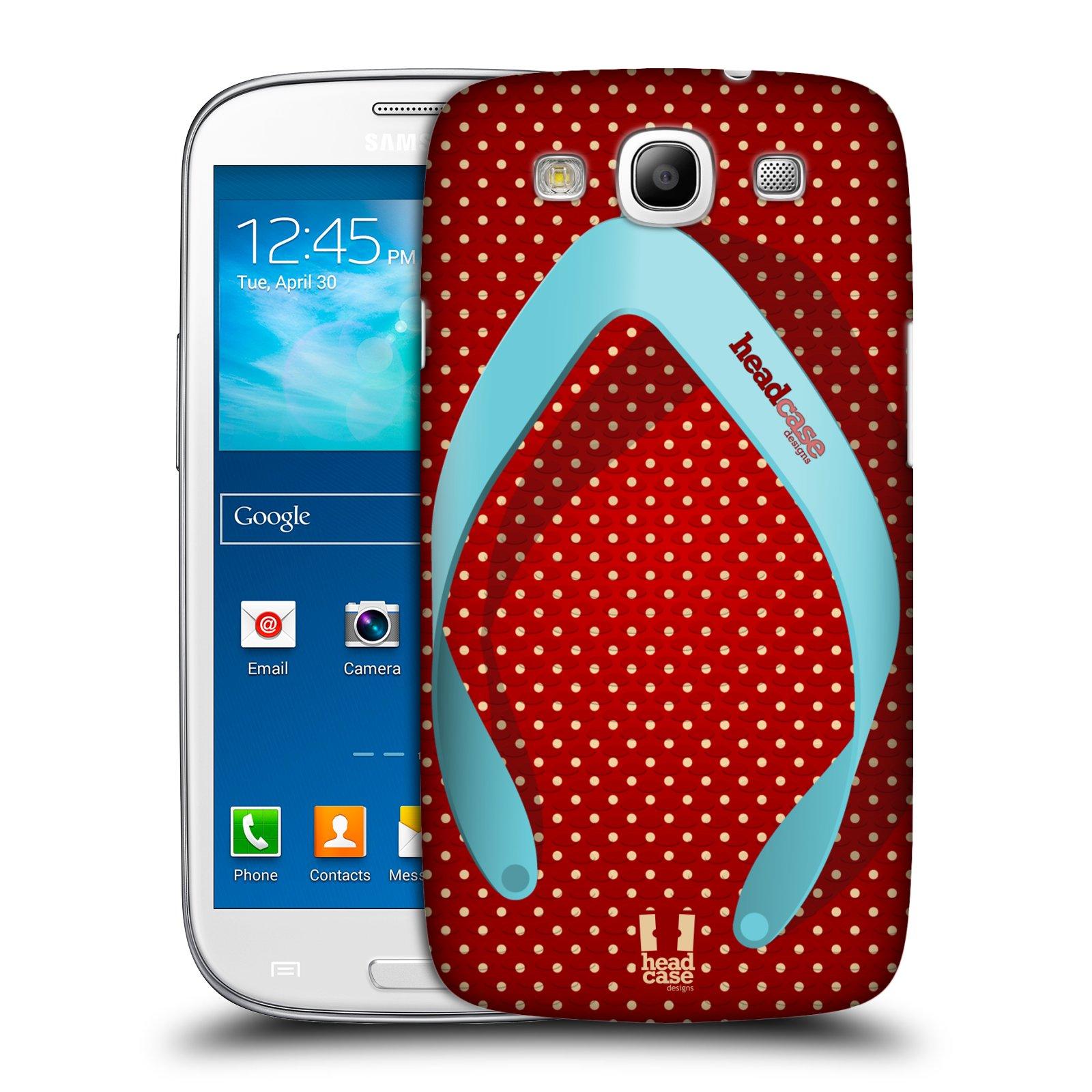HEAD CASE plast obal Samsung Galaxy i9300 S3 pevný plast plážová bota červená