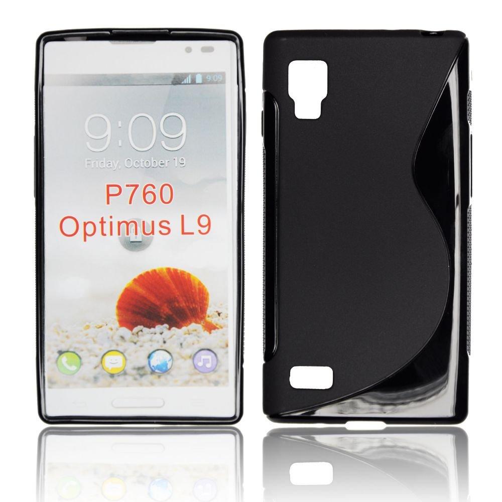 Pouzdro na mobil LG OPTIMUS L9 (P760) černá barva silikon