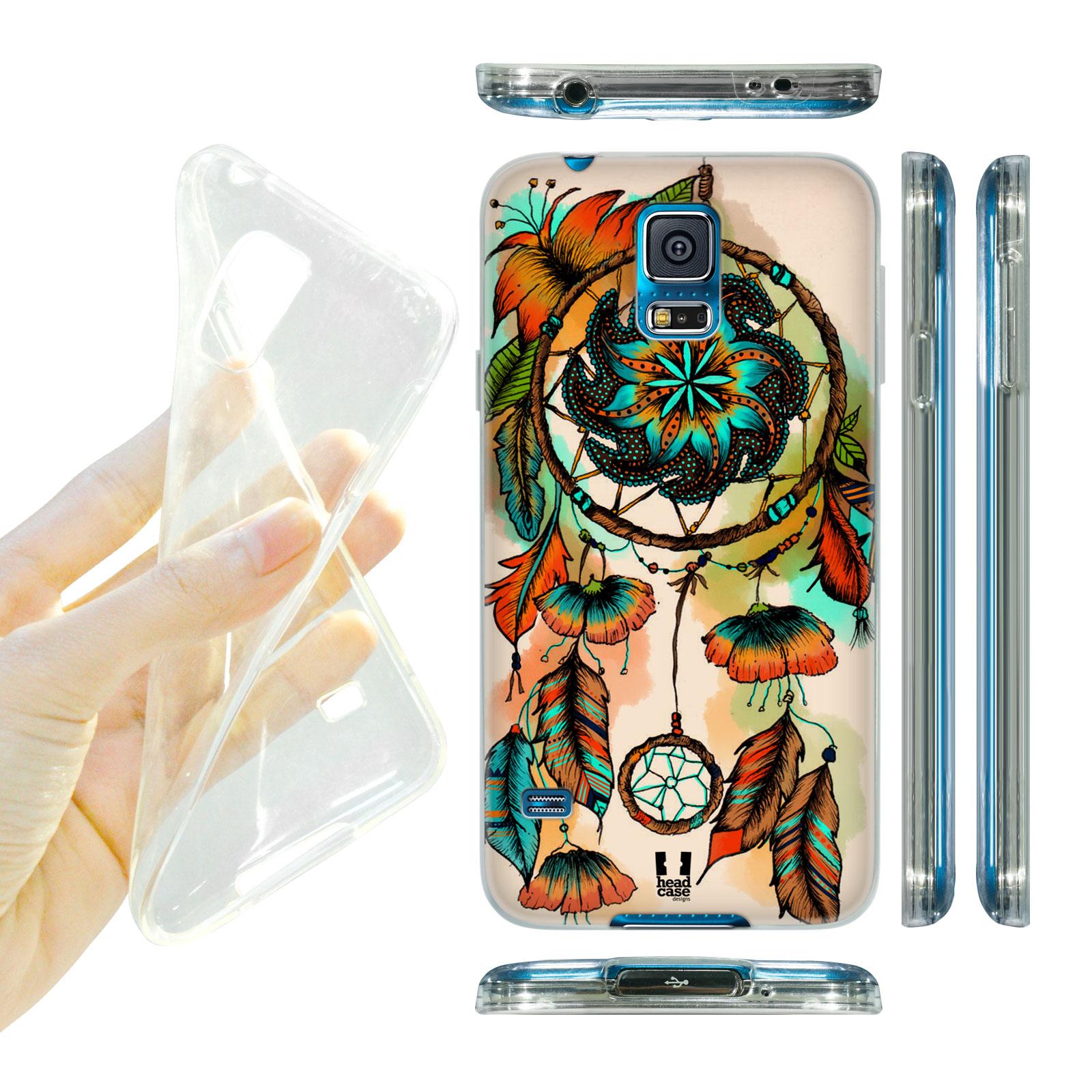 HEAD CASE silikonový obal na mobil Samsung galaxy S5 lapač snů květina oranžová