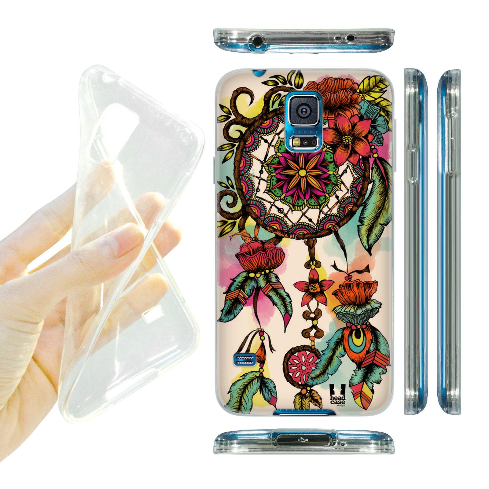 HEAD CASE silikonový obal na mobil Samsung galaxy S5 lapač snů květina červená