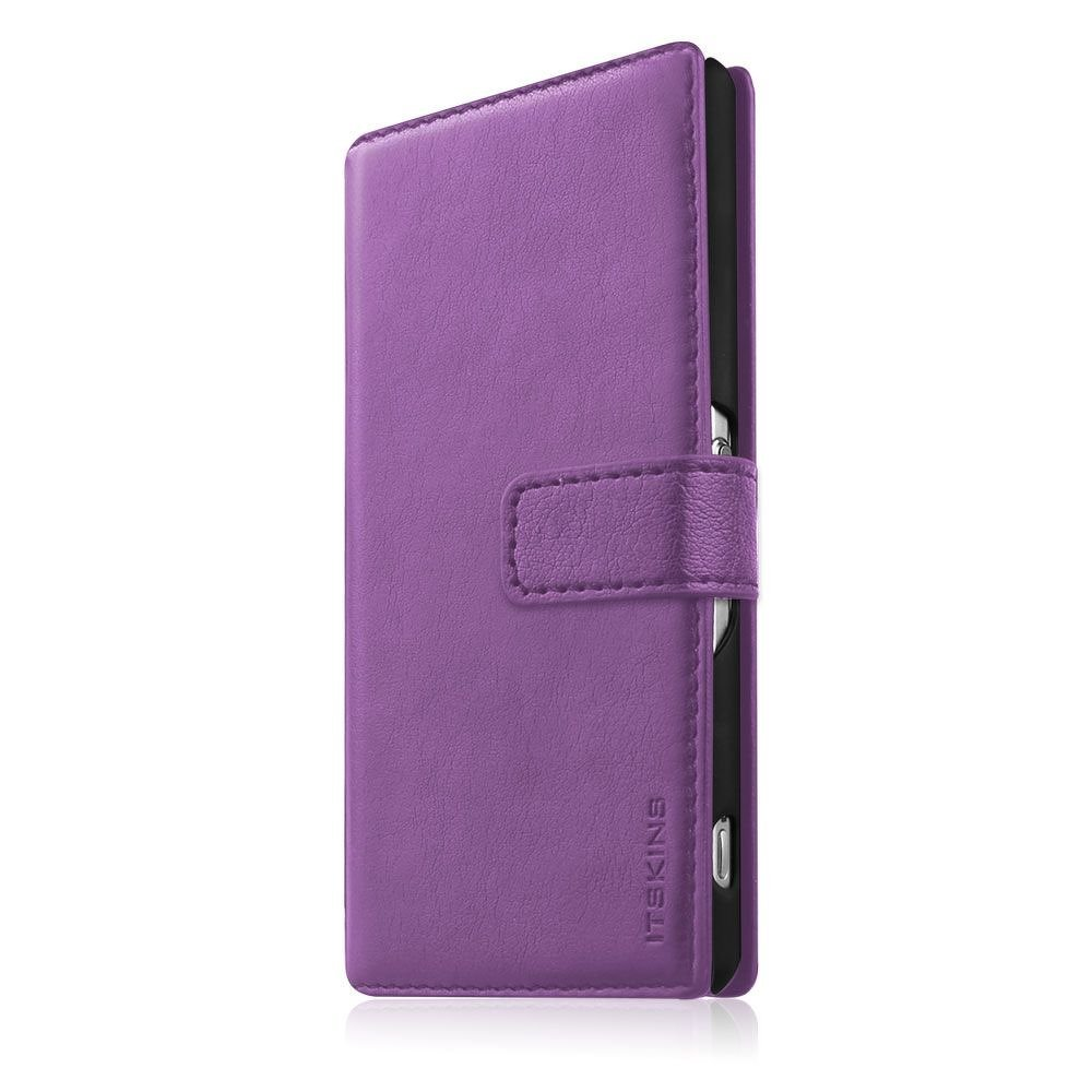Pouzdro, obal itSkins wallet book na mobi Samsung Galaxy S5 fialová barva