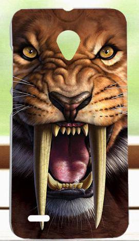 Pouzdro, kryt, obal SES na mobil VODAFONE Smart Prime 6 zvíře tygr silikon