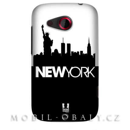 HEAD CASE pouzdro na mobil HTC desire C kresba New York