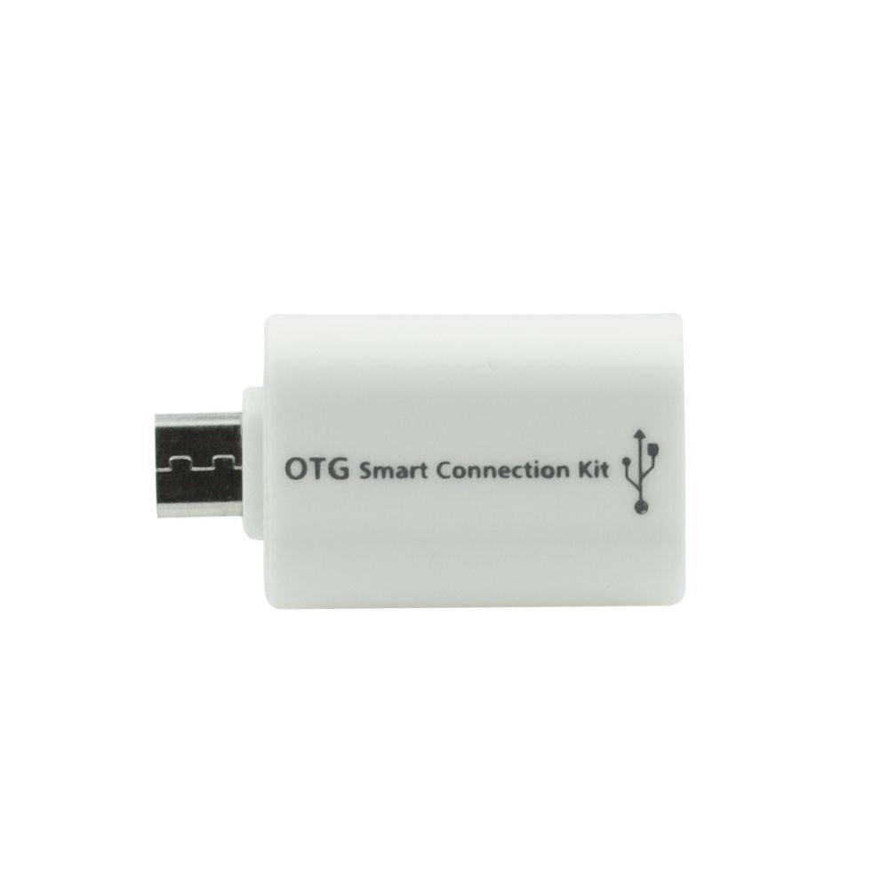 OTG adaptér micro USB/USB bílá barva