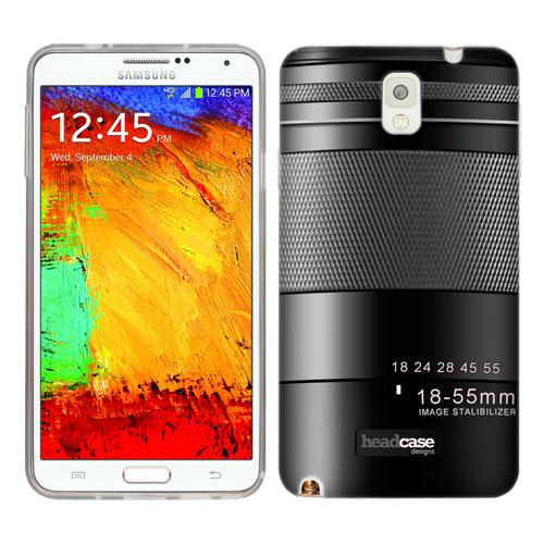 HEAD CASE silikonový obal na mobil Samsug Galaxy Note 3 objektiv 1