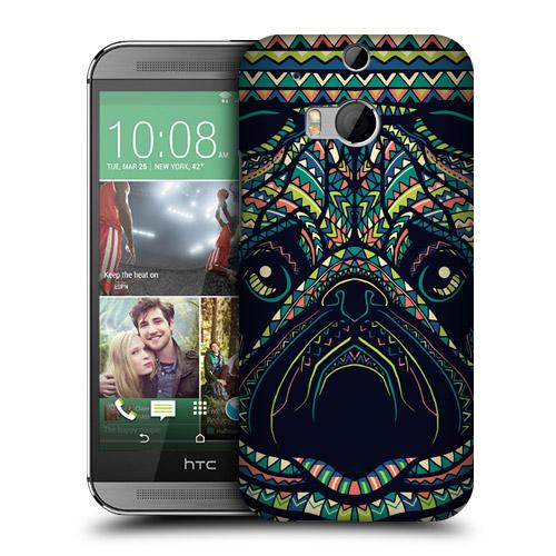 HEAD CASE obal na mobil HTC ONE M8 Azték zvíře mopsík