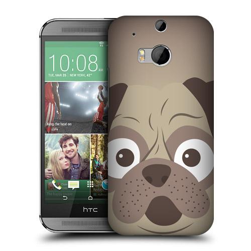 HEAD CASE obal na mobil HTC ONE M8 kreslené zvířátko mopsík