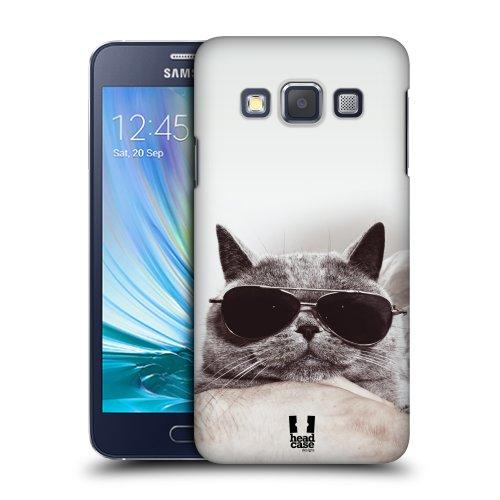 HEAD CASE plastové pouzdro na mobil Samsung Galaxy A3 Foto kočičky Britská kočka