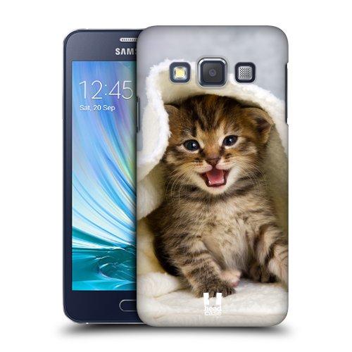 HEAD CASE plastové pouzdro na mobil Samsung Galaxy A3 Foto kočičky kotě a ručník
