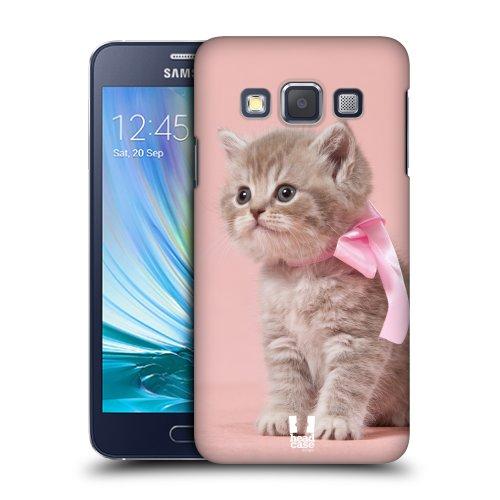 HEAD CASE plastové pouzdro na mobil Samsung Galaxy A3 Foto kočičky kotě růžová