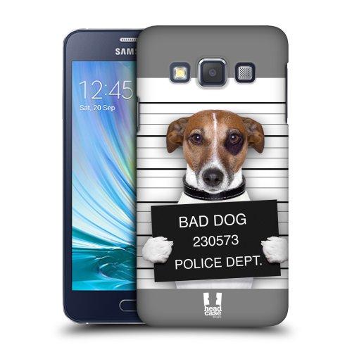 HEAD CASE plastové pouzdro na mobil Samsung Galaxy A3 pejsek zločinec