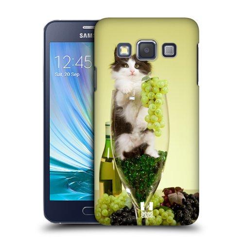 HEAD CASE plastové pouzdro na mobil Samsung Galaxy A3 kočička ve sklence vína