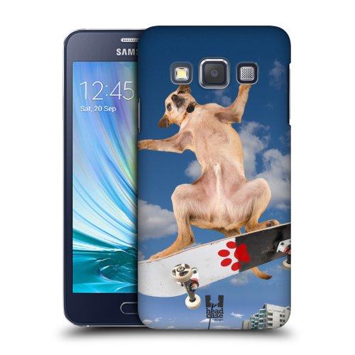 HEAD CASE plastové pouzdro na mobil Samsung Galaxy A3 pejsek na skateboardu