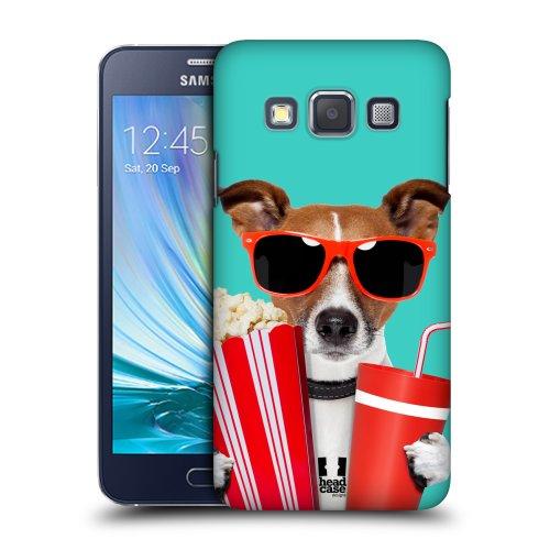 HEAD CASE plastové pouzdro na mobil Samsung Galaxy A3 pejsek v kině modrá