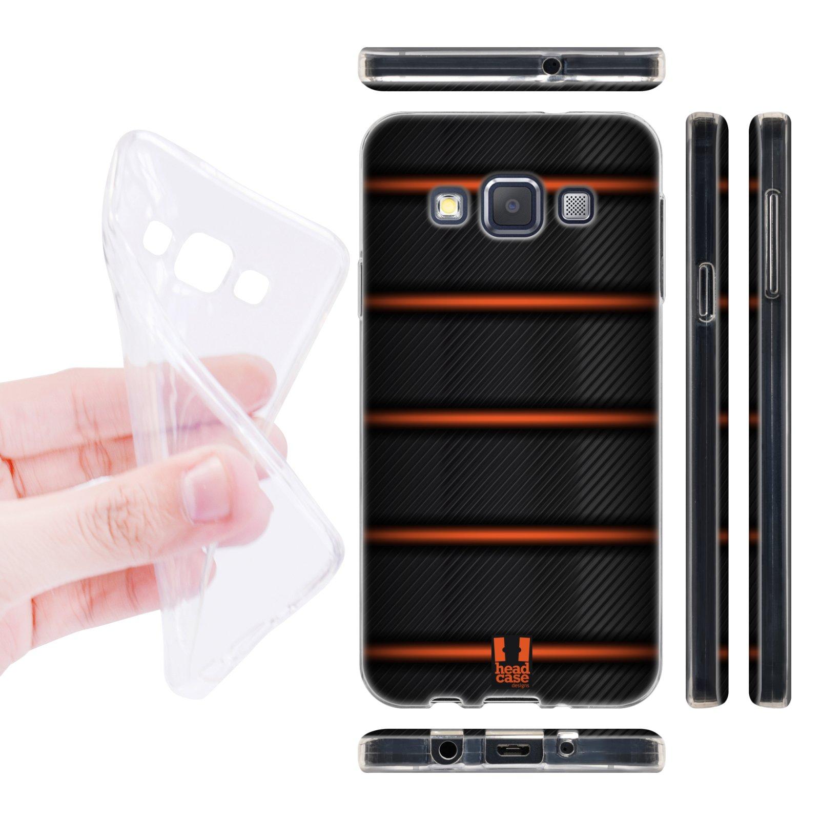 Head Case silikonové pouzdro na mobil Samsung galaxy A3 vzor kolo grip černá