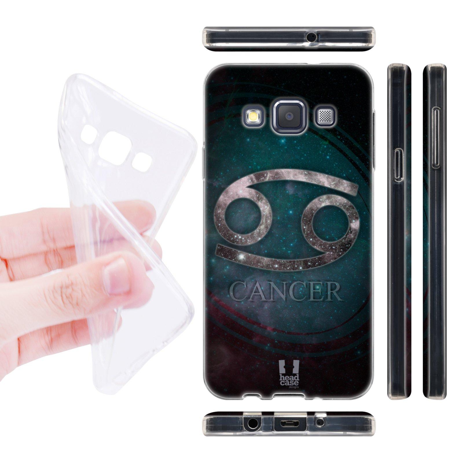 Head Case silikonové pouzdro na mobil Samsung galaxy A3 znamení horoskop Rak