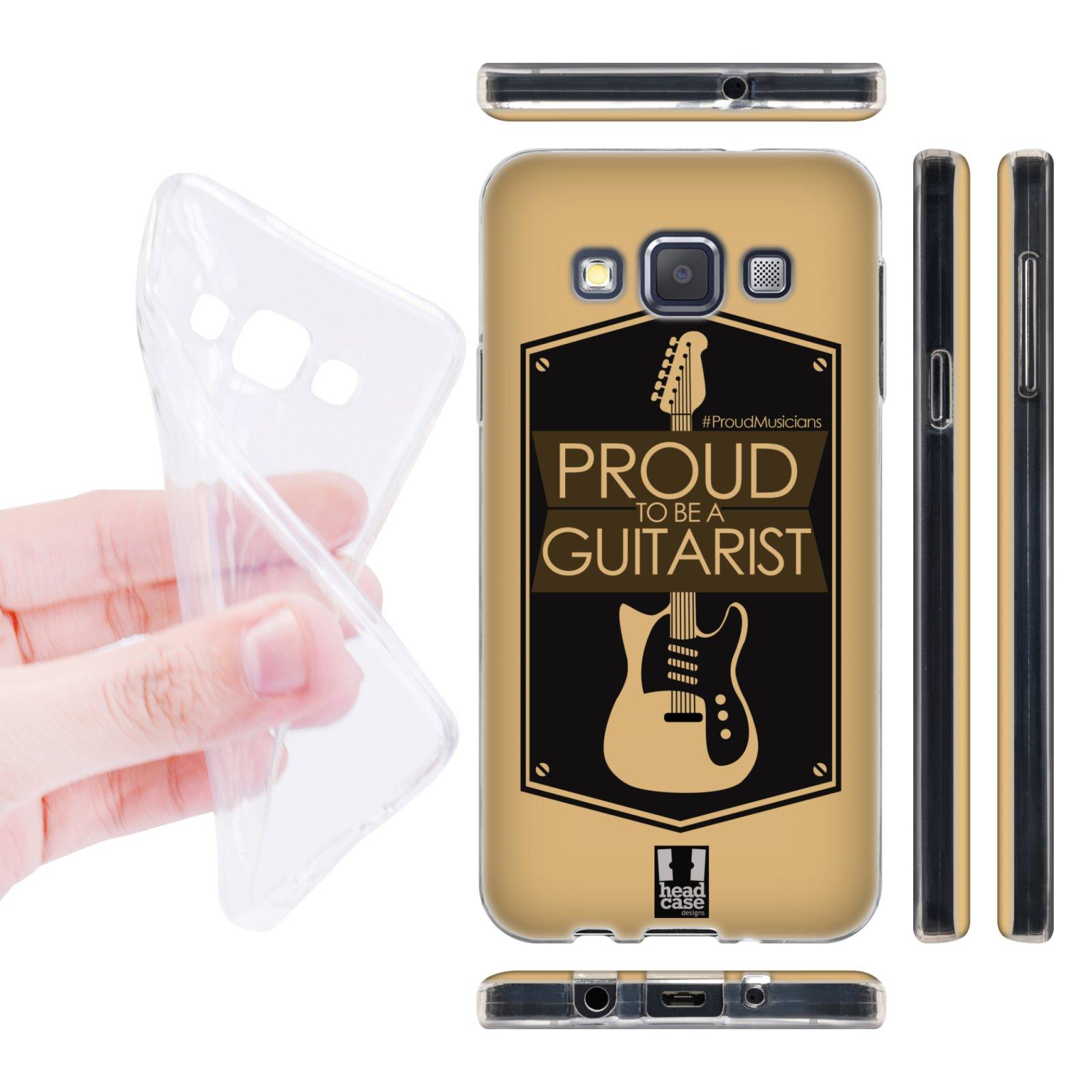 Head Case silikonové pouzdro na mobil Samsung galaxy A3 muzikant kytarista