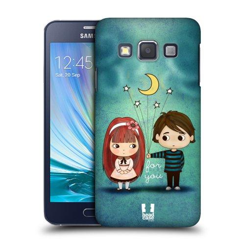 HEAD CASE plastové pouzdro na mobil Samsung Galaxy A3 chlapec a holčička hvězdy