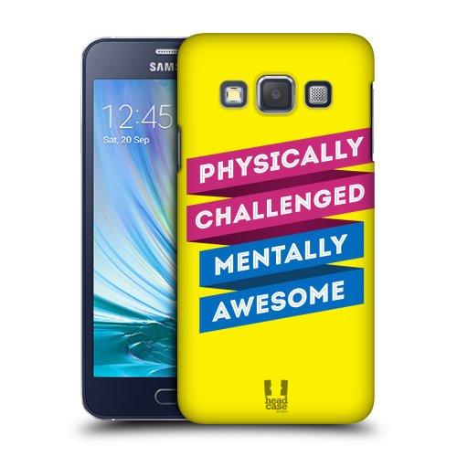 HEAD CASE plastové pouzdro na mobil Samsung Galaxy A3 nadpis motivace odolný
