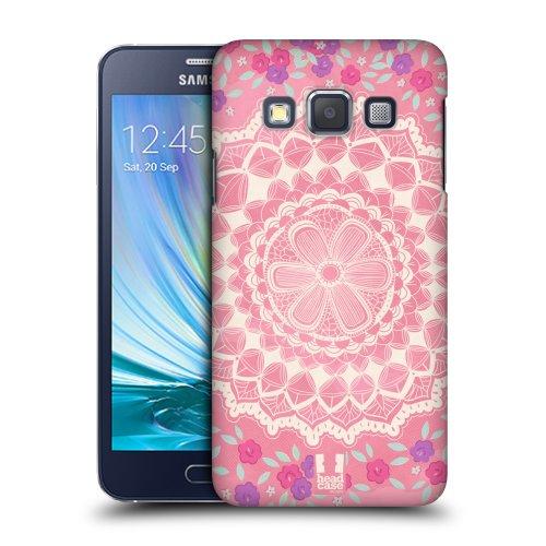 HEAD CASE plastové pouzdro na mobil Samsung Galaxy A3 krajkové vzory růžová
