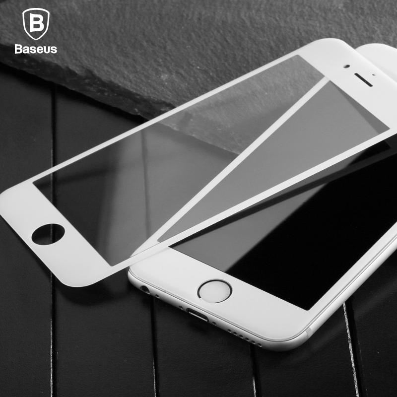 3D tvrzené sklo BASEUS 0.23 mm Apple Iphone 7 (4,7) bílé okraje