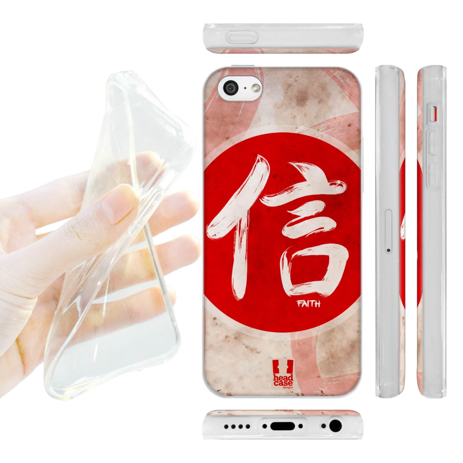 f56033d1b HEAD CASE silikonový obal na mobil Iphone 5C Japonské znaky VÍRA