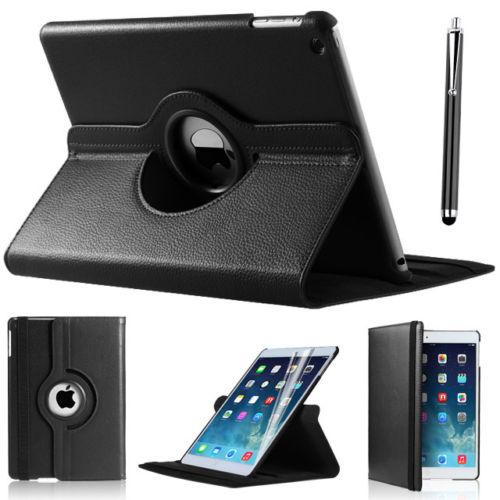 Pouzdro 360 DEGREE na tablet Apple iPad 2,3,4 černá barva + fólie zdarma
