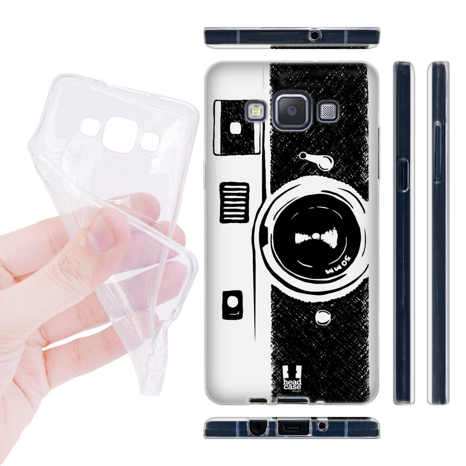 Head Case silikonové pouzdro na mobil Samsung galaxy A5 nákres fotoaparát